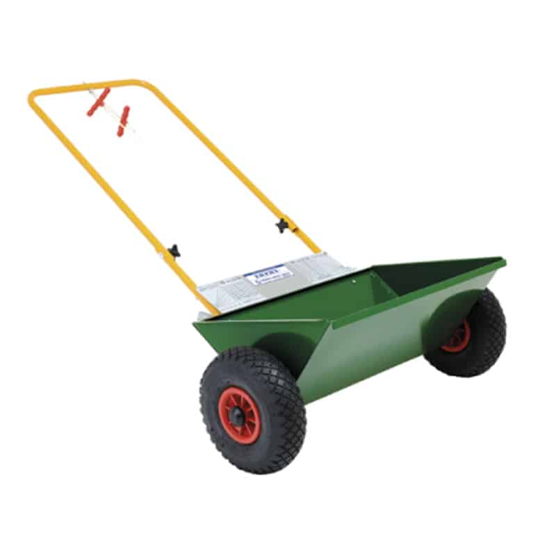 seed drill to spread the grass seeds